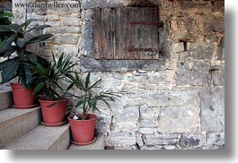 croatia, europe, horizontal, plants, potted, stairs, photograph