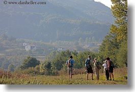 croatia, europe, hikers, hiking, hills, horizontal, landscapes, motovun, nature, people, plants, scenics, trees, photograph