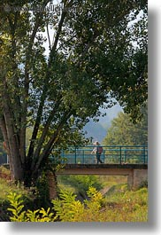 bridge, croatia, europe, hikers, hiking, motovun, nature, people, plants, structures, trees, vertical, photograph