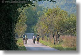 croatia, europe, hikers, hiking, horizontal, motovun, nature, people, plants, trees, photograph