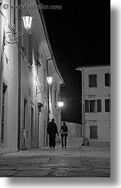 black and white, couples, croatia, europe, glow, hands, holding, lights, motovun, nite, vertical, photograph