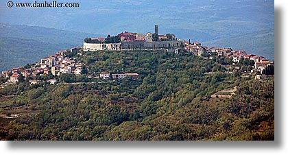 croatia, europe, hills, horizontal, motovun, panoramic, towns, photograph