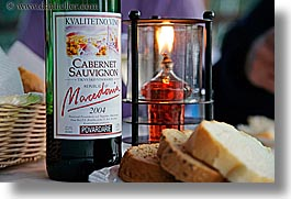 bread, cabernet, candles, croatia, europe, foods, horizontal, macedonia, nostalgija, wines, photograph