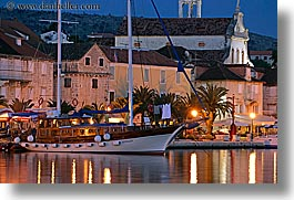 boats, croatia, europe, horizontal, nite, nostalgija, slow exposure, towns, water, photograph