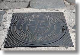 covers, croatia, europe, horizontal, manholes, pula, photograph