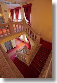 arbiana hotel, carpet, croatia, europe, rab, red, slow exposure, stairs, vertical, photograph