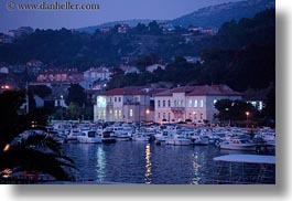 croatia, dusk, europe, harbor, horizontal, nite, rab, photograph