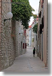 croatia, europe, musicians, narrow, narrow streets, rab, streets, vertical, walking, photograph