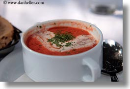 croatia, cups, europe, foods, horizontal, rab, soup, tomatoes, photograph
