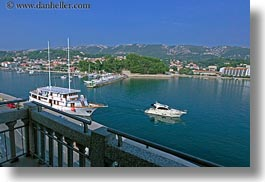 croatia, europe, harbor, horizontal, rab, speedboat, yacht, photograph