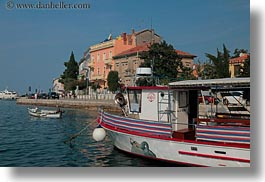 boats, croatia, europe, horizontal, houses, rovinj, transportation, photograph