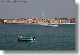 boats, croatia, europe, horizontal, rovinj, sunbathing, womens, photograph