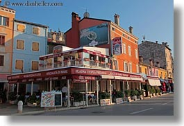 buildings, colorful, colors, croatia, europe, horizontal, restaurants, rovinj, photograph