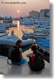 conceptual, couples, croatia, emotions, europe, harbor, people, romantic, rovinj, sunsets, vertical, photograph