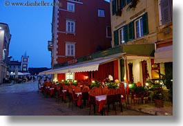 croatia, europe, horizontal, restaurants, rovinj, squares, photograph