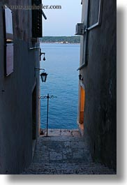 cobblestones, croatia, europe, materials, narrow streets, rovinj, seas, stairs, stones, streets, vertical, photograph