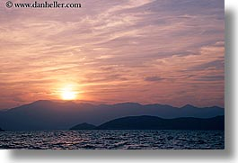 croatia, europe, hazy, horizontal, scenics, sunsets, water, photograph