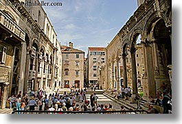 croatia, diocletian, diocletians palace, europe, horizontal, palace, split, photograph