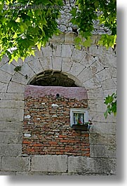 big, croatia, diocletians palace, europe, small, split, vertical, windows, photograph