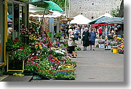 croatia, europe, flowers, horizontal, market, split, photograph