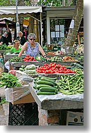croatia, europe, market, split, tables, vegetables, vertical, photograph