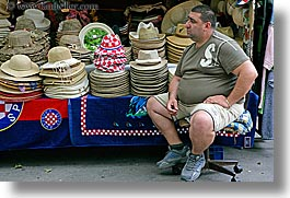 croatia, europe, hats, horizontal, men, salesman, split, photograph
