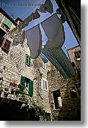 croatia, europe, hangings, laundry, split, vertical, photograph