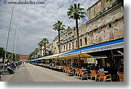 cafes, croatia, europe, horizontal, long, rows, split, photograph