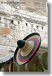 croatia, europe, hats, mexican, split, vertical, photograph