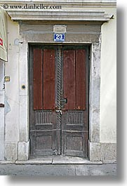 croatia, doors, europe, red, split, vertical, photograph