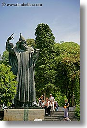 croatia, europe, popes, split, statues, vertical, wizard, photograph