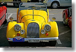 cars, classic car, croatia, europe, horizontal, morgan, old, split, yellow, photograph