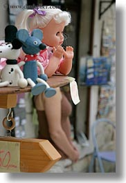 croatia, dolls, europe, girls, miscellaneous, trogir, vertical, photograph