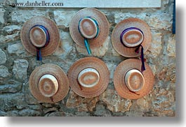 croatia, europe, hats, horizontal, miscellaneous, stones, trogir, walls, photograph