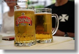 beers, croatia, draft, europe, foods, horizontal, miscellaneous, ozujskio, trogir, photograph