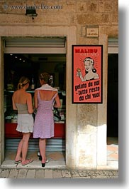 croatia, emotions, europe, foods, humor, ice cream, miscellaneous, trogir, vertical, womens, photograph