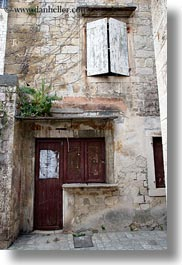 croatia, doors, europe, trogir, vertical, windows, photograph