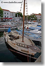 boats, croatia, europe, harbor, ugljan, vertical, photograph