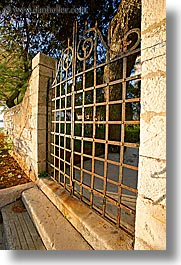 croatia, europe, gates, irons, ugljan, vertical, photograph