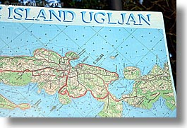 croatia, europe, horizontal, islands, map, uglja, ugljan, photograph