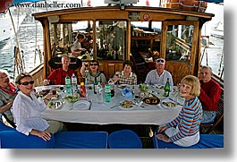 croatia, eating, europe, foods, groups, horizontal, people, tables, photograph