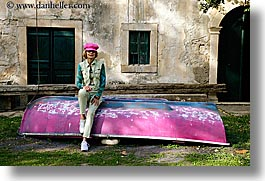 boats, croatia, europe, horizontal, janna, janna curt, people, pink, photograph