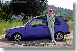 cars, croatia, europe, horizontal, janna, janna curt, people, purple, photograph