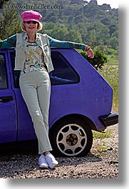cars, croatia, europe, janna, janna curt, people, purple, vertical, photograph