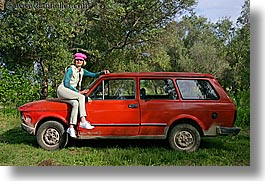 cars, croatia, europe, horizontal, janna, janna curt, people, red, photograph