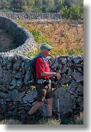 colors, croatia, europe, gary, gary lolly, hiking, men, people, red, senior citizen, stones, vertical, walls, wt group istria, photograph