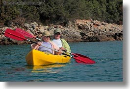 colors, croatia, europe, gary, gary lolly, horizontal, kayaking, lolly, men, people, red, senior citizen, womens, wt group istria, yellow, photograph