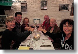 croatia, dinner, emotions, europe, groups, happy, horizontal, smiles, toasting, wt group istria, photograph