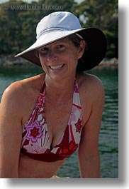bathing, croatia, emotions, europe, hats, helene patrick, helenes, people, smiles, suit, vertical, womens, wt group istria, photograph