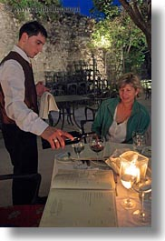 croatia, europe, helene patrick, helenes, pouring, red, vertical, waiter, wines, wt group istria, photograph